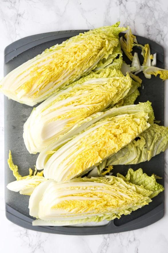 chopped napa cabbage