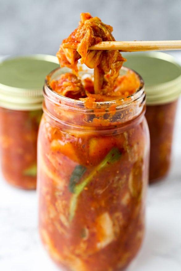 Vegan Kimchi (napa cabbage) - 김치