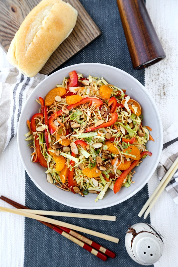 Crunchy coleslaw with Asian dressing