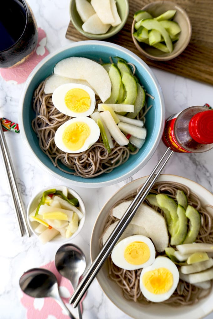 Naengmyeon (Korean Chilled Noodle Soup)