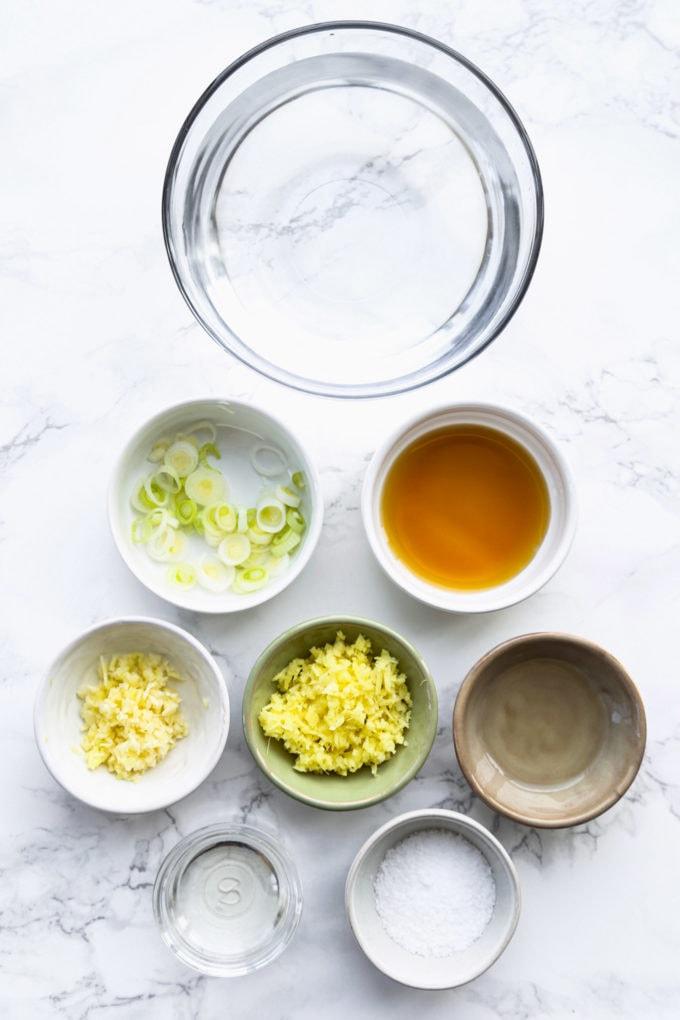 Shio ramen ingredients