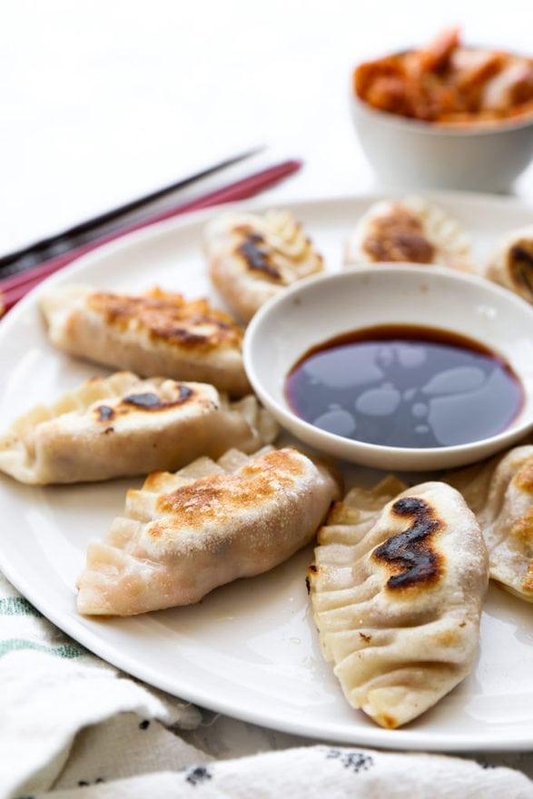 Kimchi tofu mandu (Korean dumplings)