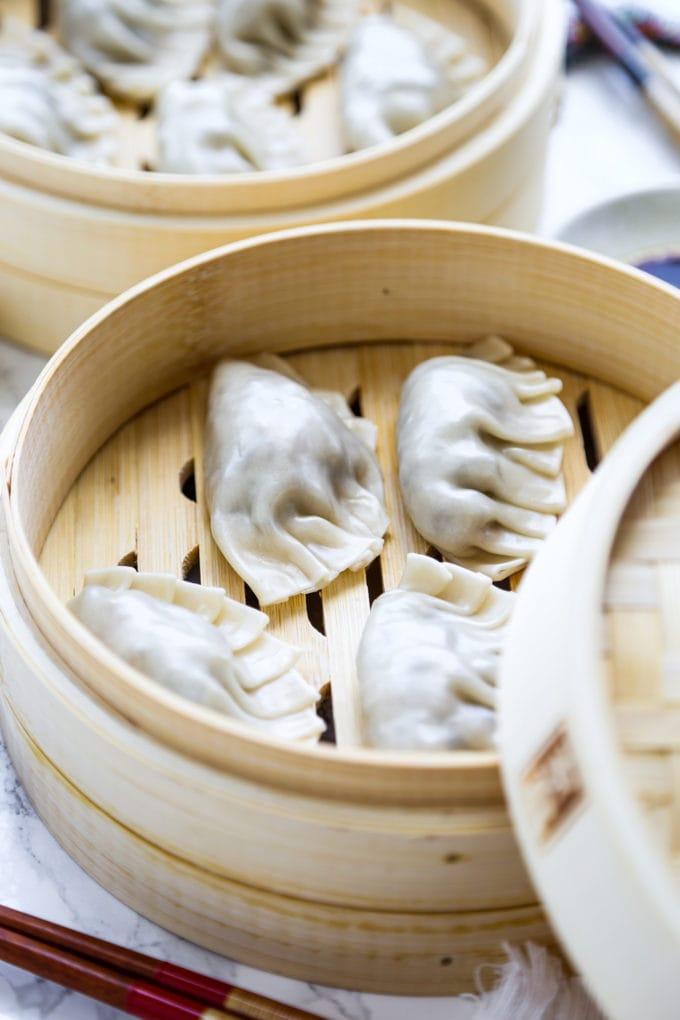 Mushroom Cabbage Dumplings