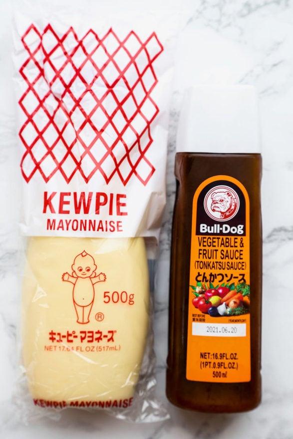 Kewpie Mayo and Tonkatsu Sauce