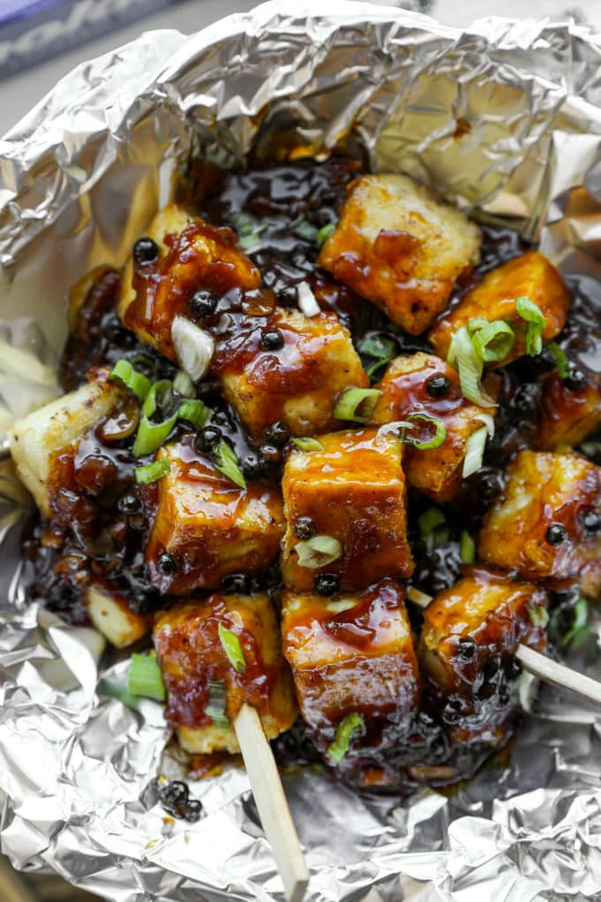tofu with black pepper sauce