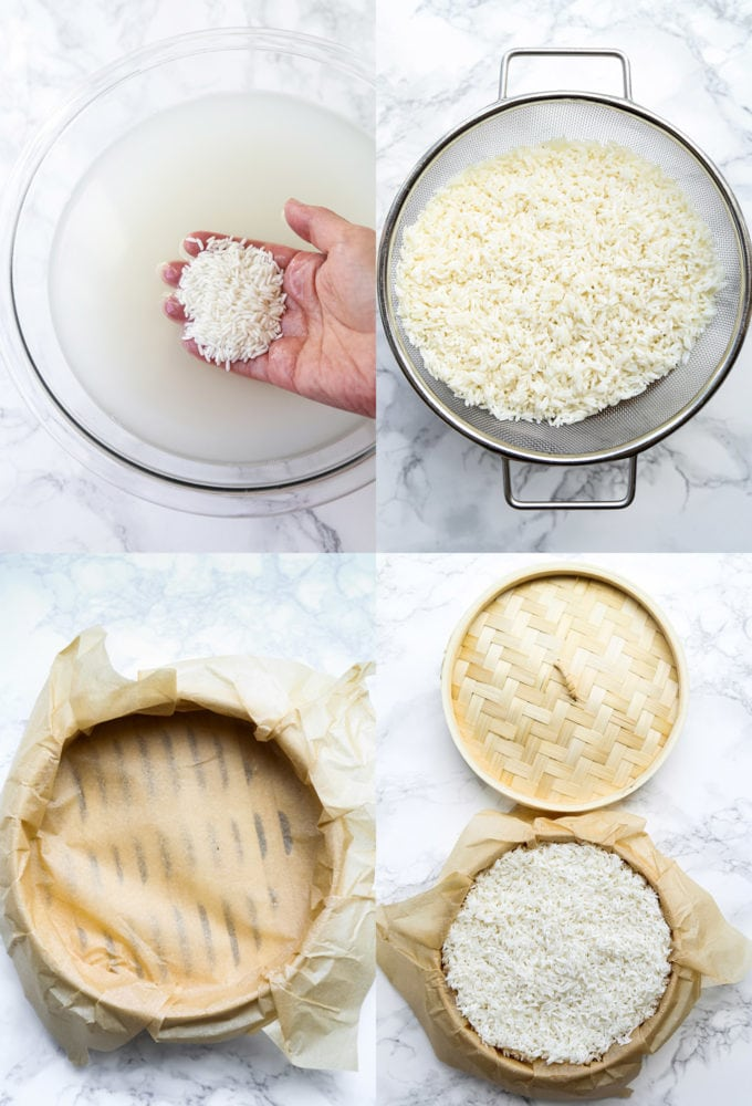 steps to making sticky rice