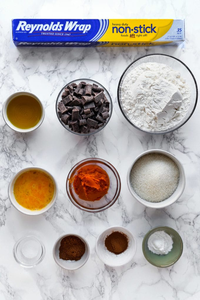 Ingredients for biscotti