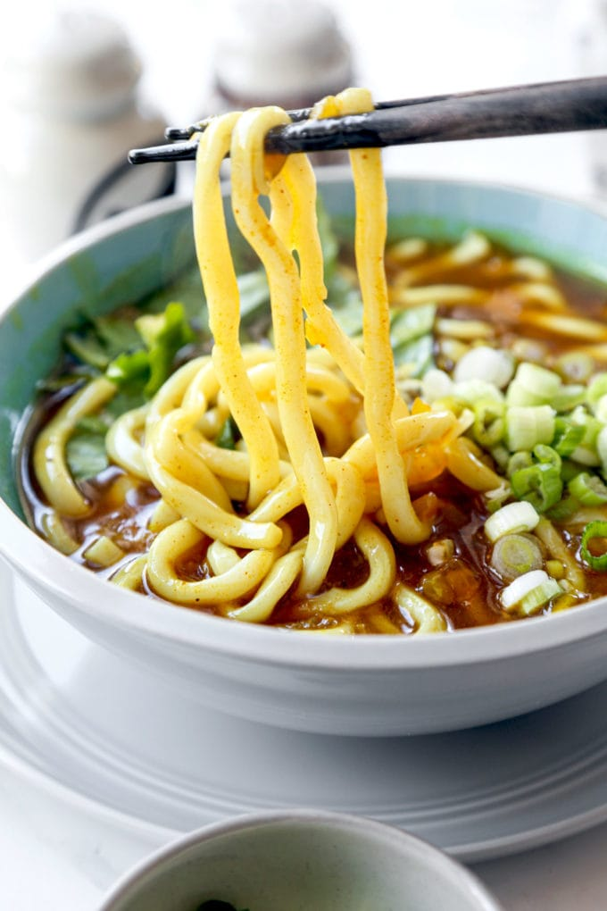 curry udon noodle soup