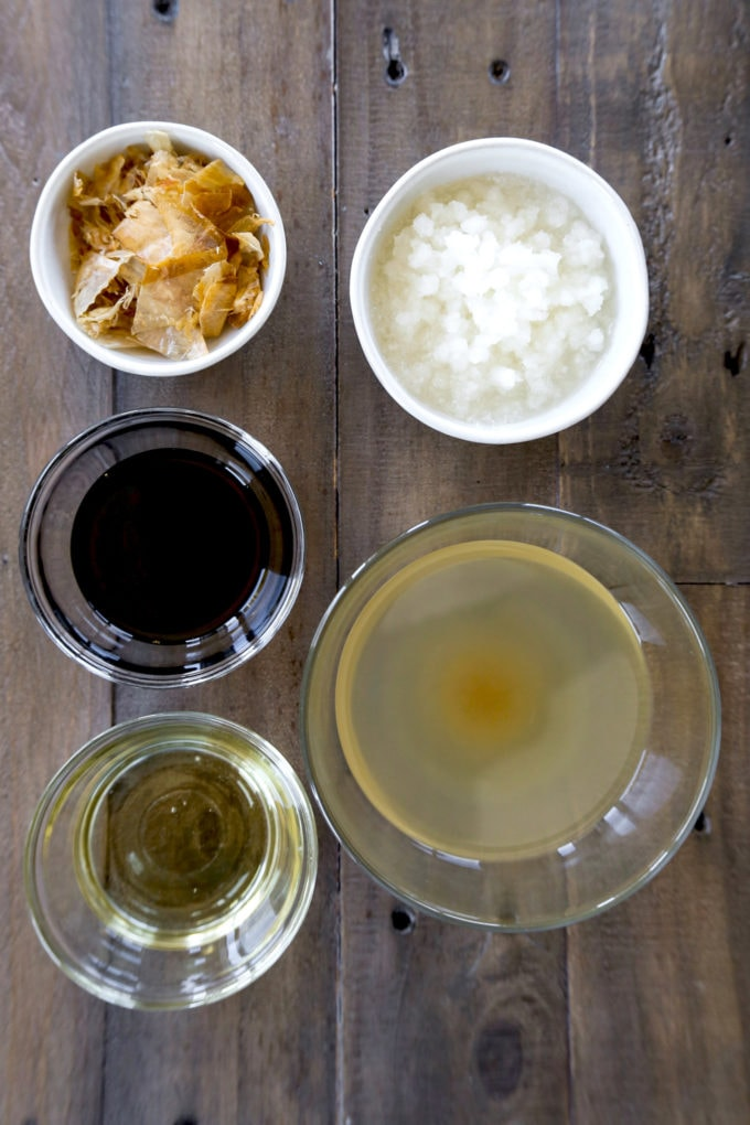ingredients for tempura sauce