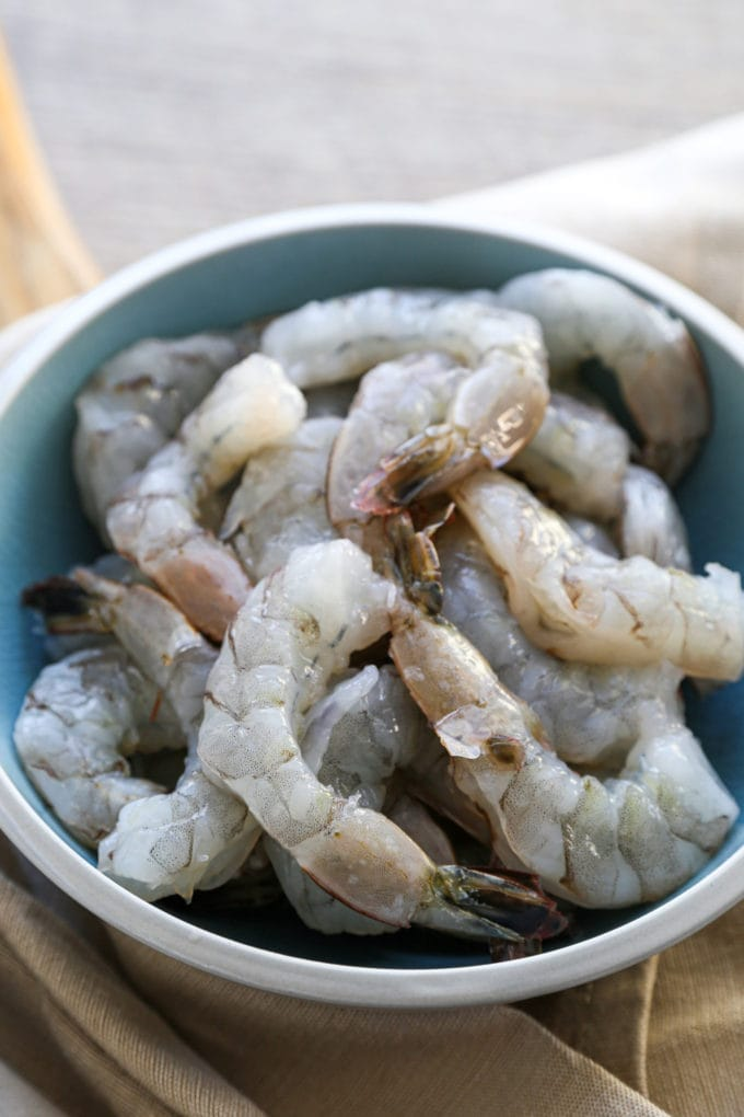 large shrimp, thawed and peeled