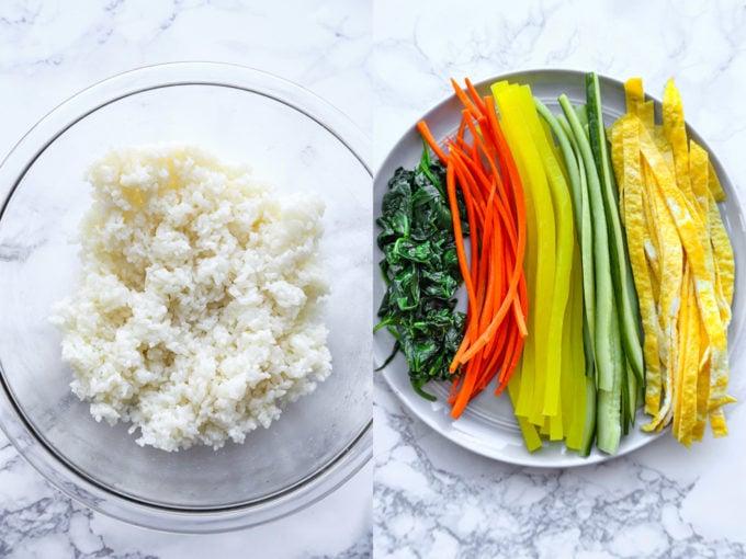 ingredients for kimbap