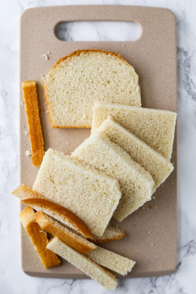 Crustless Japanese milk bread