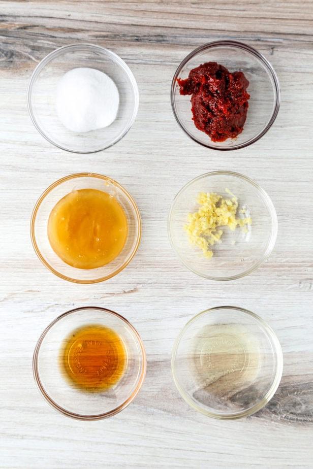 ingredients for bibimbap sauce