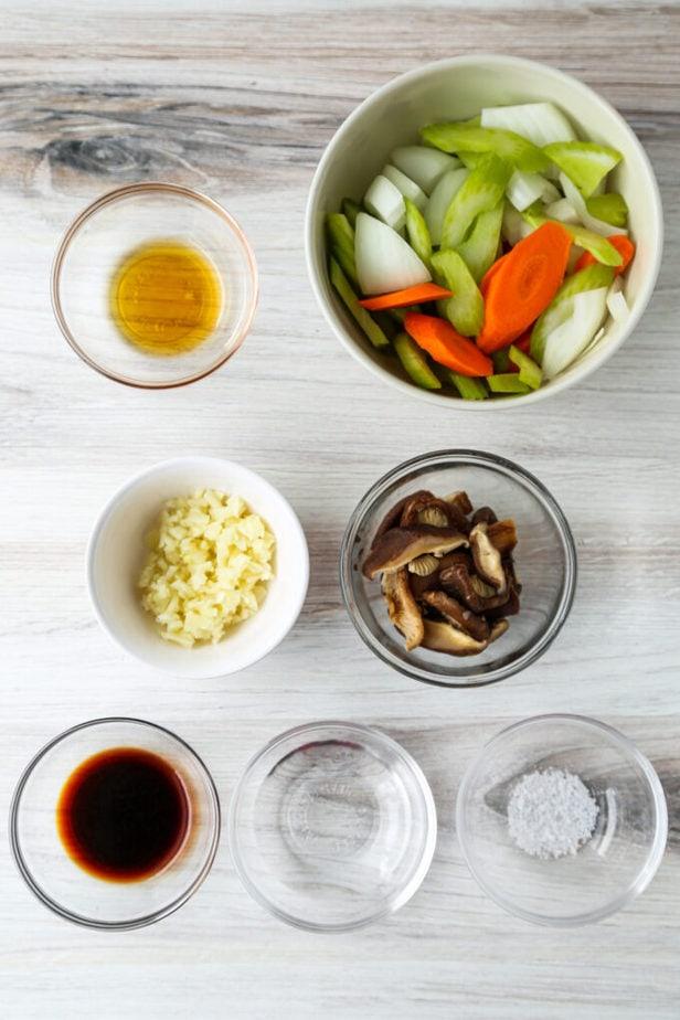 ingredients for stir fried veggies