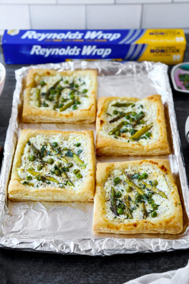 Asparagus, Ricotta and Green Pea Tart