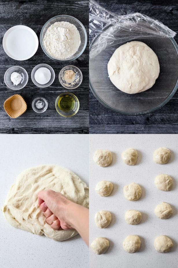 Ingredients for Bao Buns Dough