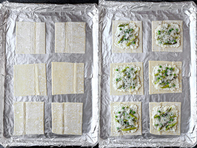 How to make puff pastry asparagus tart