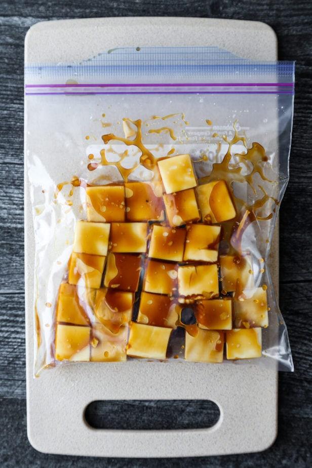 tofu marinating